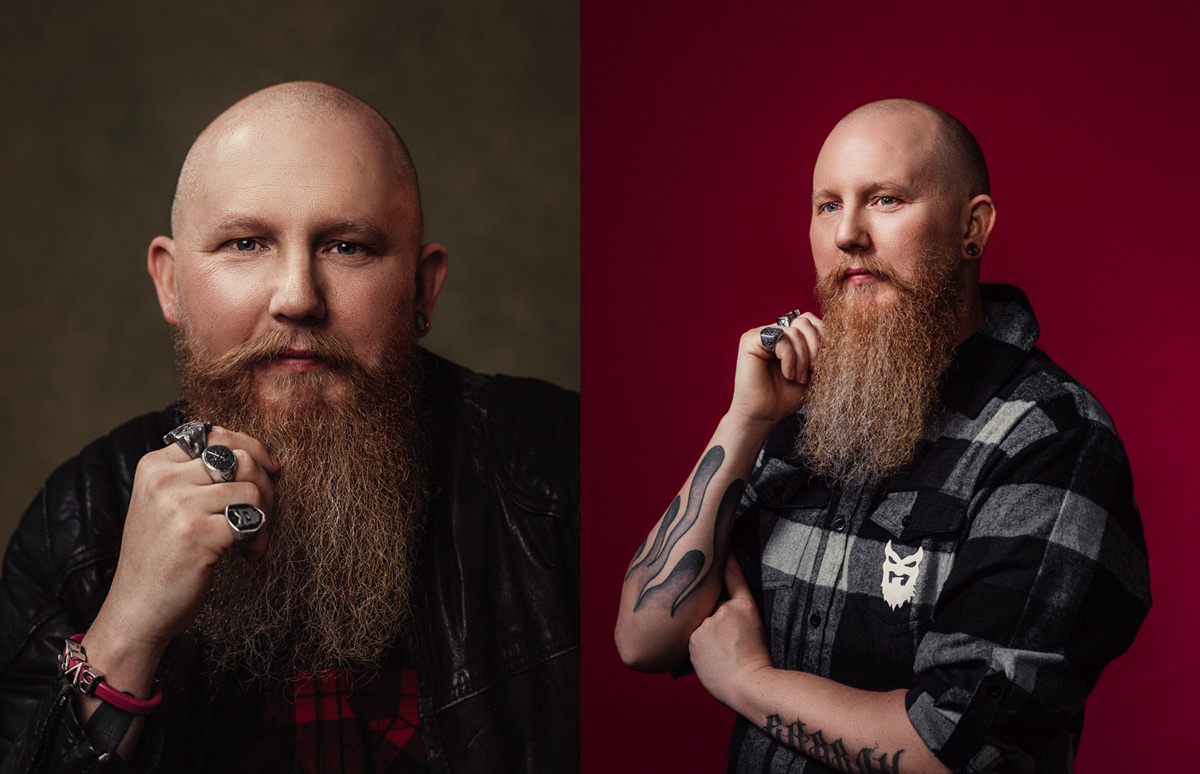 Jimmy från Bearded Villains fotograferad av Satu Knape fotograf i Linköping