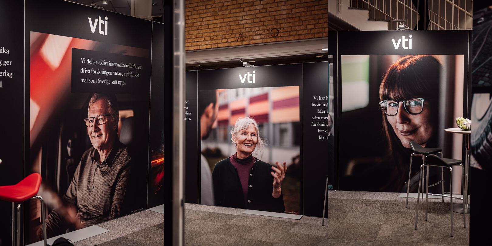 Stora bilder i tryck på personal vid Transportforum fotograferade av Satu Knape, fotograf i Linköping
